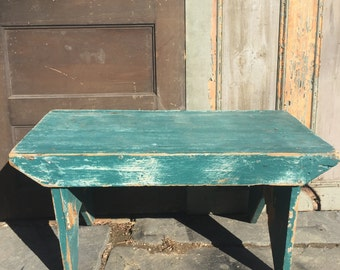 Large Vintage Wood Bench