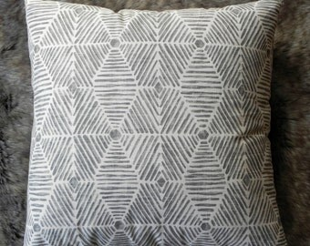 Couch pillow,throw pillow,Gray,Ivory,geometric pillow,modern throw pillow,lumbar pillow,bedroom pillow //Own Your Leaf pillows