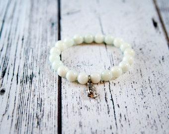 Mala bracelet, Amazonite bracelet, Spiritual bracelet, Semi-precious bracelet