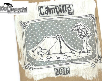 Camping diary, camping photos, tent camp, scout book, notebook kraft paper, camping book, Minialbum camping, craft-project, kraft- gift,