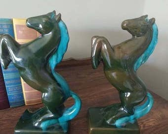 Vintage Horse bookends-Pottery