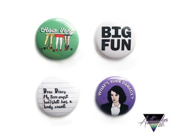 Heathers One Inch Pinback Button Set