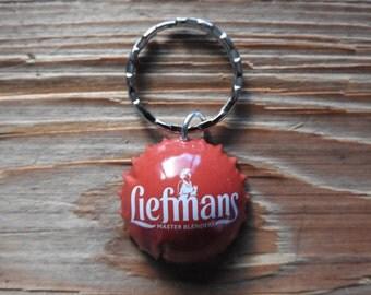Liefmans Belgium beer bottle cap key chain - Handmade by Charlie