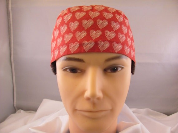 Men's Scrub Hat Valentine's Day