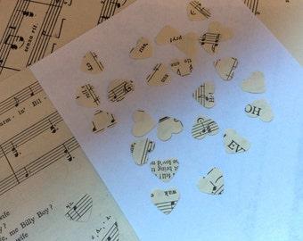 500 x Vintage Original Music Sheet Hearts Table Scatter
