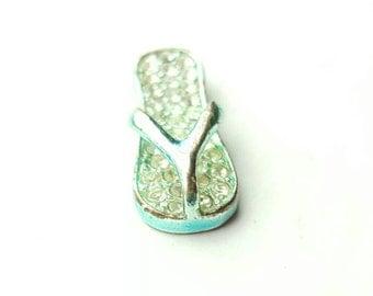 Petite Vintage Rhinestone Flip Flop Sandal Charm
