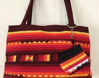 Handmade Cosmetics Bag, Handmade Bag, Handmade Cotton Bag, Handmade Boho Bag,Boho Bag, Quilted Bag