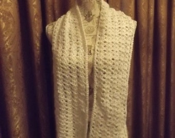 Crocheted Scarf in White