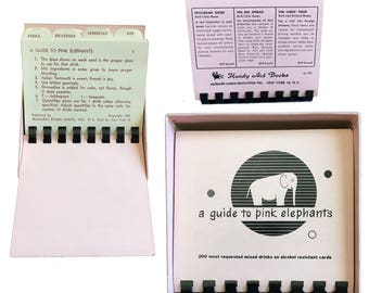 Vintage A Guide To Pink Elephants Bar Guide — 1952 Vol. 1