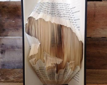 Toad Folded Book Art