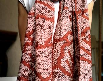 Shibori  Silk Scarf