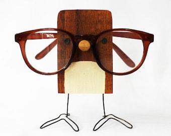 Wood Bird Eyeglass Stand