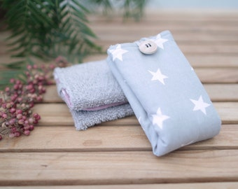 Cotton Wipe | Grey with stars