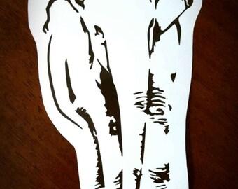 Vinyl Decal - Asian Elephant