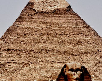 Egyptian Pyramid and Sphinx