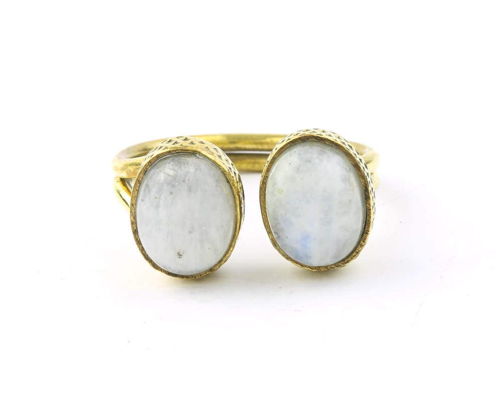 Moonstone Face Ring