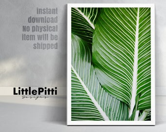 Tropical print, palm leaf print, tropical leaf print, tropical leaves, leaf wall print, hawaii print, palm leaves print, large print art