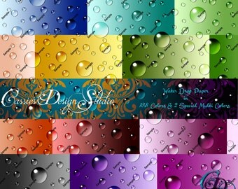 Water Drop Digital Paper Collection
