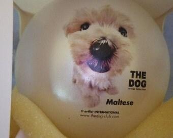 The Dog Maltese chistmas ornament
