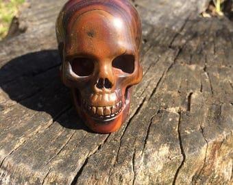 Natural Tiger Iron Crystal Skull