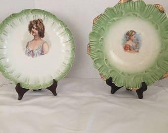 Antique plate, Portrait Plate, Sevres Plate