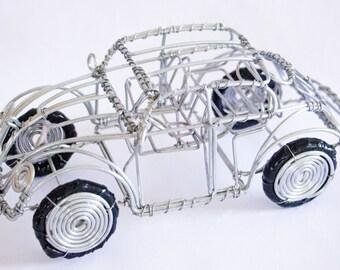 Wire handmade VW Beetle