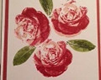 Valentines Day Flower Card