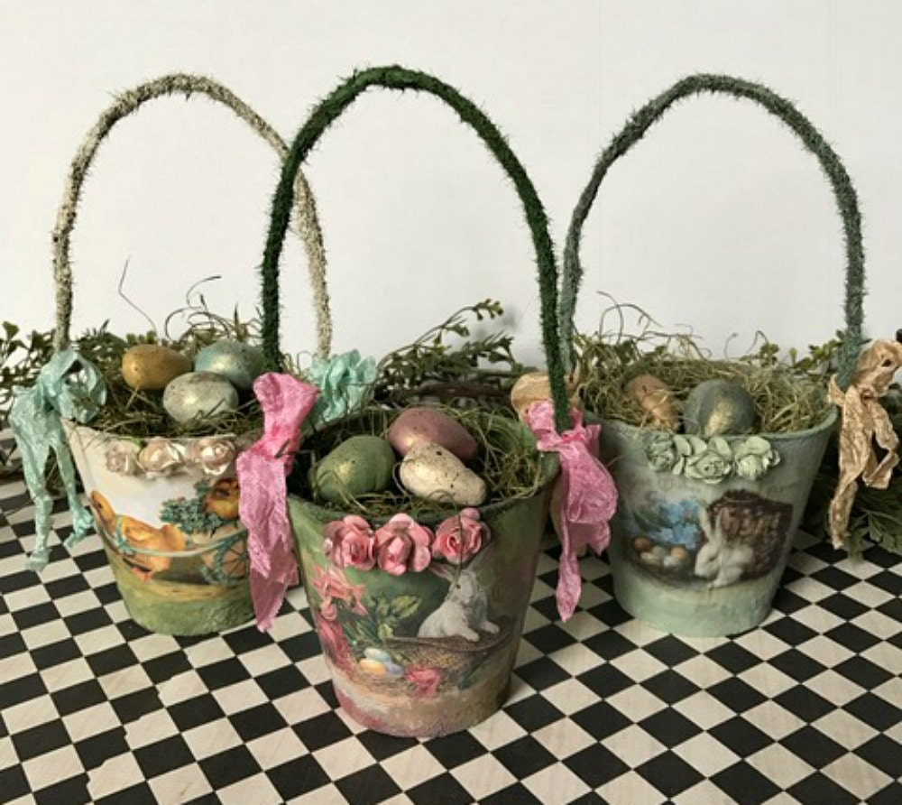 Easter Baskets Victorian Easter Easter Decorations
