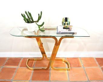 Vintage Regency Entryway Table