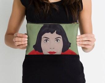 Amelie, handbag, french film, Audrey Tautou bag, illustration amelie, studio pouches
