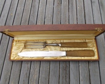 box range meat and carving - knife vintage meat carving set knife and fork