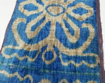 Sale! 25% off! Regular price - 39.99! Silk Velvet Fabric,Velvet Upholstery Fabric, Velvet, Silk Velvet, Hand Woven Fabric. V18