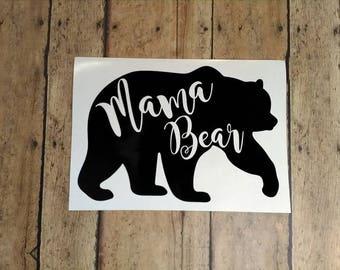 Mama Bear Decal, Car decal, Sticker, Vinyl Sticker, laptop sticker, Yeti Decal