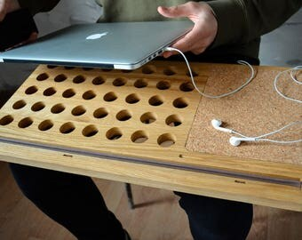 laptop stand / dad gift / laptop desk / gift for him / student gift / lap tray / lap desk / wooden gift / gift / mac accessories / laptop