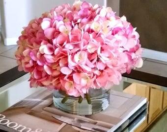 large silk pink hydrangea flower flowerspink floral