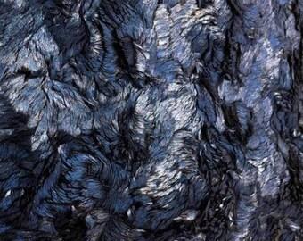 Glitterbug Metallic Faux Fur in Sapphire
