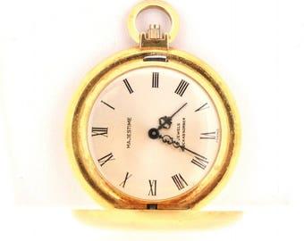 Vintage Gold Majestime 17 Jewels France Shockabsorb Pocket Watch