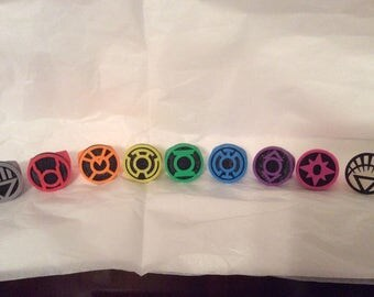 DC Comics Green Lantern Spectrum Rings