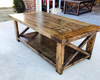 Farmhouse Style Coffee Table, Rustic, Living Room, Furniture