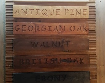 Wooden personalized plaque personalised sign oak walnut pine carved house wall MANY COLOURS AVAILABLE prices starting from just 1 pound