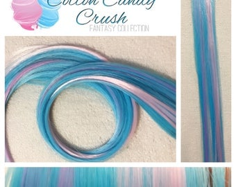 "COTTON CANDY CRUSH 18"" Clip In Colored Hair Extension Set - 4 Pieces!"