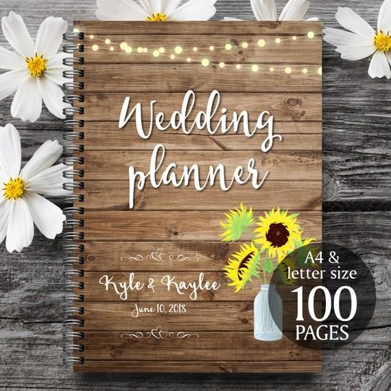 Printable Wedding Planner Binder Planning A Rustic: Rustic Wedding Planner Rustic Wedding Binder Printable