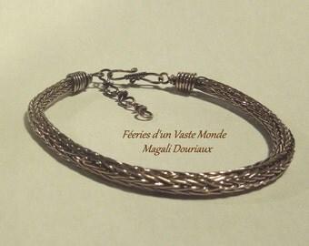 """Viking aged copper man """"woven"""" hand bracelet"""