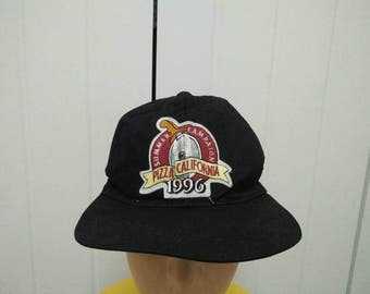 Rare Vintage 96' Summer Campaign PIZZA CALIFORNIA Cap Hat Free size fit all