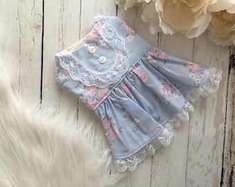 dog clothes, dog dress, puppy dress, dog owl dress, dog clothes, dog wedding, Jenny
