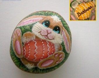 Painted rock,Easter bunny,Painted stone,Easter egg,Easter rabbit,custom Easter egg,personalized Easter egg,Easter basket,colored egg,Easter