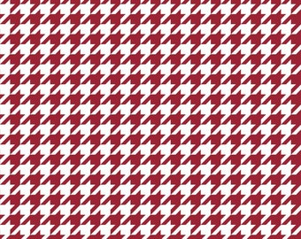 Riley Blake Designs Basic Houndstooth Crimson C970-85