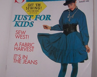 Sew News Magazine Back Issue August 1992  Vintage