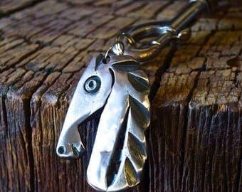 Grazy horse key chain
