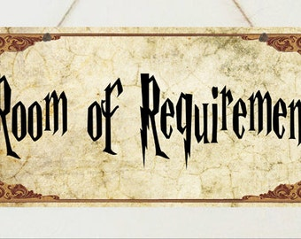 Harry Potter Sign Room of Requirement Plaque Gift Christmas Present